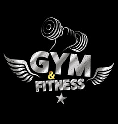 Gym and fitness abstract vector