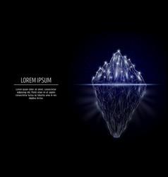 iceberg geometric polygonal art style vector image