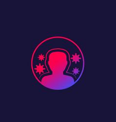 Immune system immunity icon vector