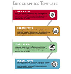 infographic process visualization template vector image