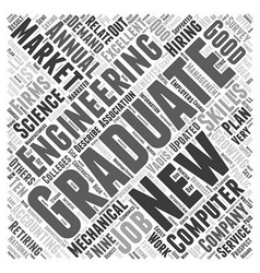 jobs for the new grad dlvy nicheblowercom Word vector image