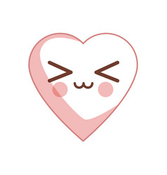 Kawaii heart health care cardiology vector