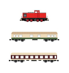 Locomotivewagons vector image