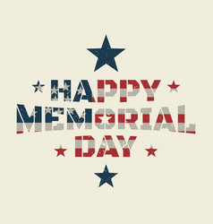 memorial day background or banner design with vector image