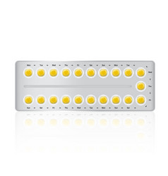 mock up realistic birth control pill medicine vector image