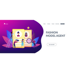 modeling agency concept landing page vector image