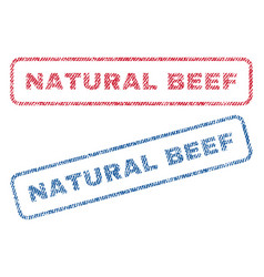 Natural beef textile stamps vector