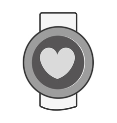 orbed watch with media icon on the screen vector image