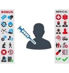 Patient Vaccination Icon vector