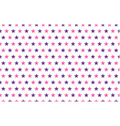 pink and purple stars pattern on white background vector image