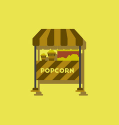 Popcorn shop in sticker style vector