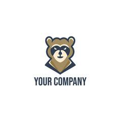 raccoon mascot vector image