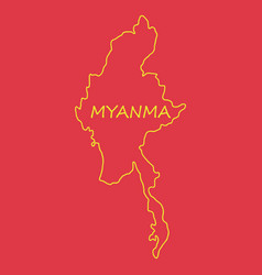 Republic of the union of myanmar flag and map vector