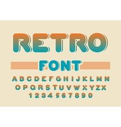 Retro font Vintage rounded alphabet Disco alphabet vector image