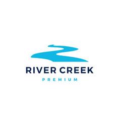 river creek logo icon vector image