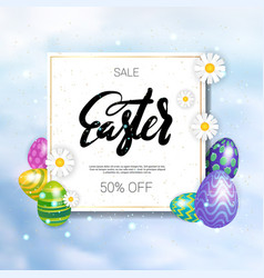 sale easter holiday discounts concept colorful vector image