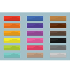 Set colored web buttons flat design vector image