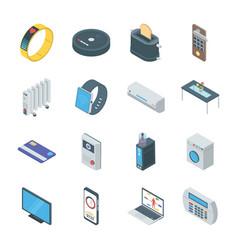 Set smart gadgets icons vector