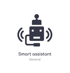 Smart assistant icon isolated assistant vector