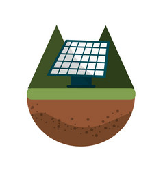 solar energy to care ecology and planet vector image