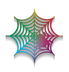 spider on web colorful icon vector image