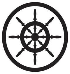 Steering wheel icon black vector image