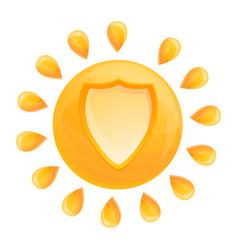 Sun protect icon cartoon style vector