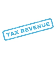 Tax Revenue Rubber Stamp vector