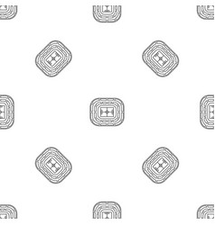 top view stadium pattern seamless vector image