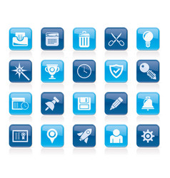 web site and internet interface icons vector image