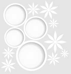 white flowers background vector image
