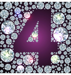 Diamond number four vector image