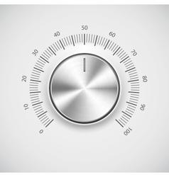 Modern volume knob button vector image