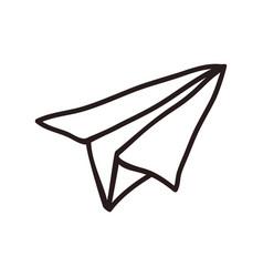 paper plane doodle vector image