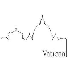 vatican city one line drawing background vector image vector image