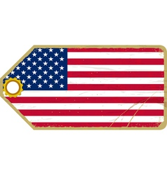 Vintage label with the flag of USA vector image vector image