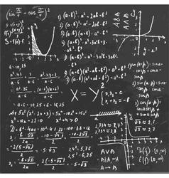 Algebra Formula Board vector image vector image