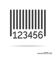 barcode outline icon black color vector image