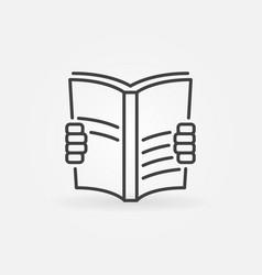 book read icon vector image