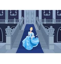 Cinderella Runs Away vector image