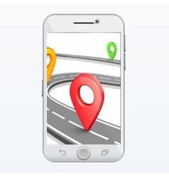GPS smartphone app vector image vector image