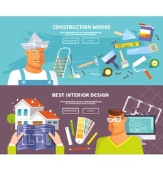 Renovation Banner Set vector image