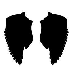 wing the black color icon vector image