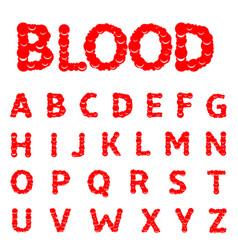 blood letters alphabet vector image