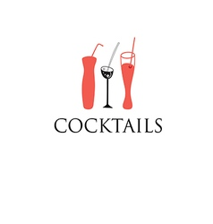 Cocktail glass glasses vector