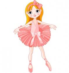 cute ballerina vector image vector image