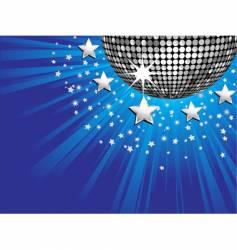 disco ball starburst vector image