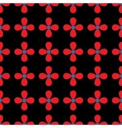 Flower geometric seamless pattern vector image