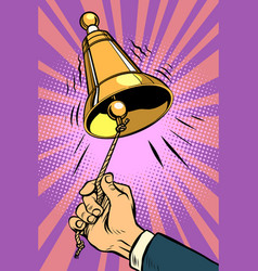 hand ringing the bell vector image vector image