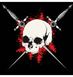 skull and dagger black vector image